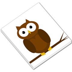 Cute Transparent Brown Owl Small Memo Pads by Valentinaart