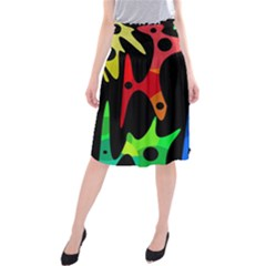 Colorful abstract pattern Midi Beach Skirt by Valentinaart