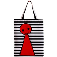 Red Pawn Zipper Classic Tote Bag by Valentinaart