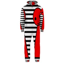 Red pawn Hooded Jumpsuit (Men)  by Valentinaart
