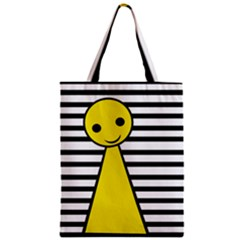 Yellow Pawn Zipper Classic Tote Bag by Valentinaart