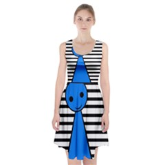 Blue Pawn Racerback Midi Dress by Valentinaart