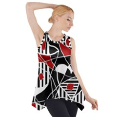 Artistic abstraction Side Drop Tank Tunic by Valentinaart