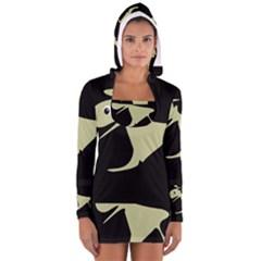 Kangaroo Women s Long Sleeve Hooded T-shirt