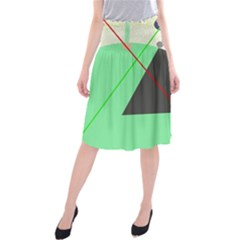 Decorative Abstract Design Midi Beach Skirt by Valentinaart
