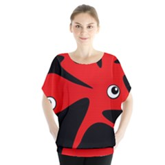 Red Amoeba Blouse