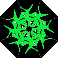 Green Amoeba Folding Umbrellas by Valentinaart