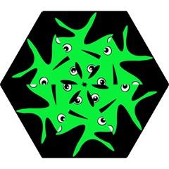 Green Amoeba Mini Folding Umbrellas by Valentinaart