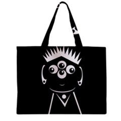 Black And White Voodoo Man Zipper Mini Tote Bag by Valentinaart
