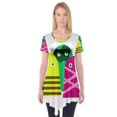 Three Mosters Short Sleeve Tunic  by Valentinaart
