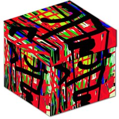 Colorful Abstraction Storage Stool 12   by Valentinaart