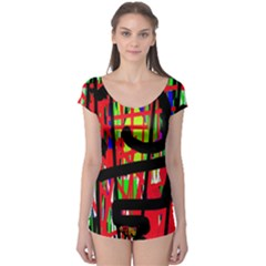 Colorful abstraction Boyleg Leotard  by Valentinaart