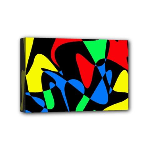 Colorful Abstraction Mini Canvas 6  X 4  by Valentinaart