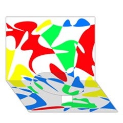 Colorful Abstraction Circle Bottom 3d Greeting Card (7x5)