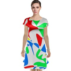 Colorful abstraction Cap Sleeve Nightdress by Valentinaart
