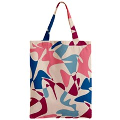 Blue, Pink And Purple Pattern Zipper Classic Tote Bag by Valentinaart