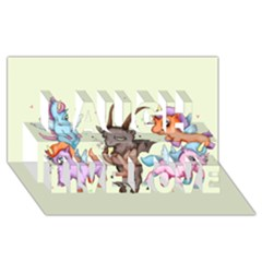 Evil Is Magic Laugh Live Love 3d Greeting Card (8x4) by lvbart