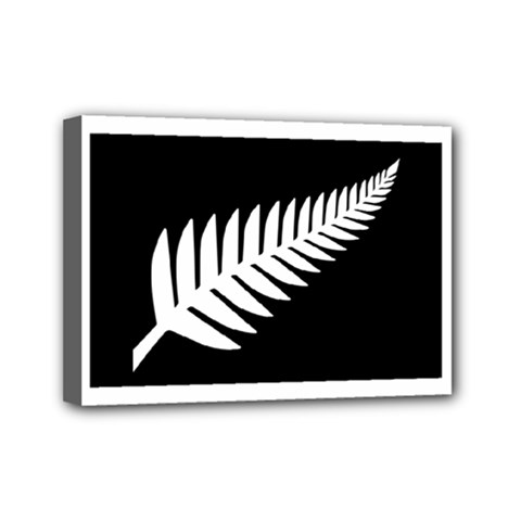 New Zealand Silver Fern Flag Mini Canvas 7  x 5  by abbeyz71