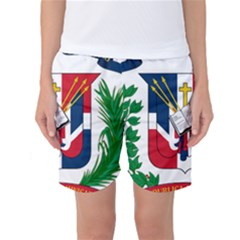 Coat Of Arms Of The Dominican Republic Women s Basketball Shorts by abbeyz71