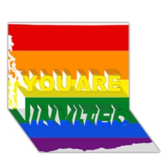 Lgbt Flag Map Of Washington YOU ARE INVITED 3D Greeting Card (7x5) by abbeyz71