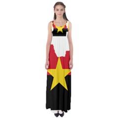 Mpla Flag Map Of Angola  Empire Waist Maxi Dress