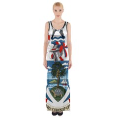 Coat Of Arms Of The Seychelles Maxi Thigh Split Dress by abbeyz71