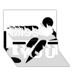 Futsal Pictogram Miss You 3d Greeting Card (7x5) by abbeyz71
