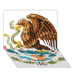 Coat Of Arms Of Mexico  Heart Bottom 3D Greeting Card (7x5) by abbeyz71