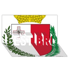 Coat Of Arms Of Malta  BEST BRO 3D Greeting Card (8x4) by abbeyz71