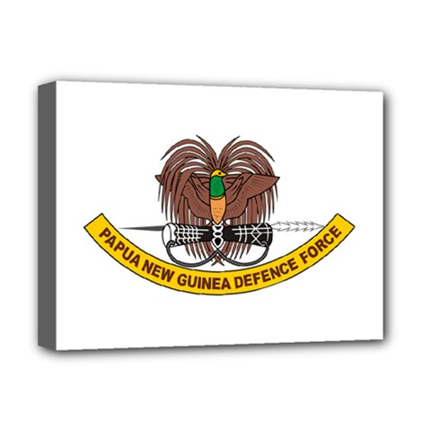 Papua New Guinea Defence Force Emblem Deluxe Canvas 16  x 12   by abbeyz71
