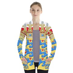 National Coat Of Arms Of Denmark Women s Open Front Pockets Cardigan(p194) by abbeyz71