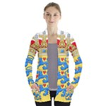 National Coat Of Arms Of Denmark Women s Open Front Pockets Cardigan(P194)