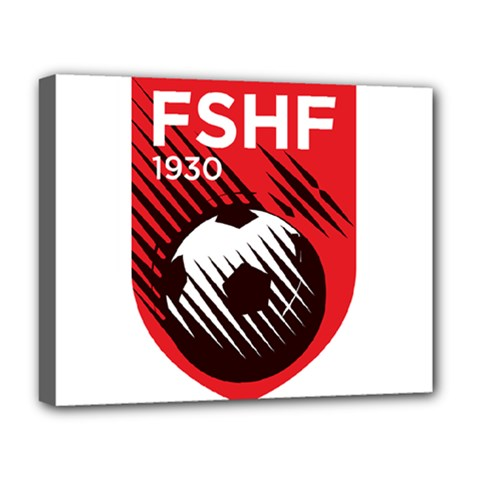 Crest Of The Albanian National Football Team Deluxe Canvas 20  X 16