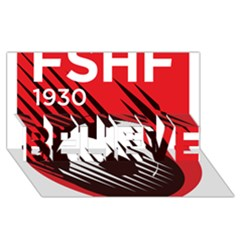 Crest Of The Albanian National Football Team Believe 3d Greeting Card (8x4)