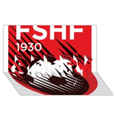 Crest Of The Albanian National Football Team Sorry 3d Greeting Card (8x4)