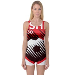 Crest Of The Albanian National Football Team One Piece Boyleg Swimsuit