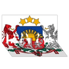 Coat Of Arms Of Latvia Best Sis 3d Greeting Card (8x4)