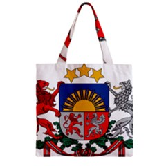 Coat Of Arms Of Latvia Zipper Grocery Tote Bag by abbeyz71