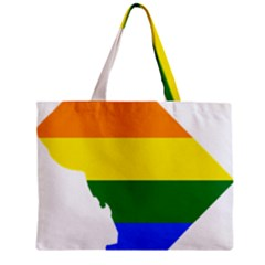 Lgbt Flag Map Of Washington, D C Zipper Mini Tote Bag