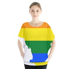 Lgbt Flag Map Of Washington, D C Blouse by abbeyz71