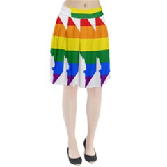 Lgbt Flag Map Of Washington, D C Pleated Skirt