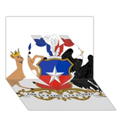 Coat Of Arms Of Chile  Heart 3d Greeting Card (7x5)