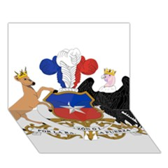 Coat Of Arms Of Chile  Heart Bottom 3d Greeting Card (7x5)