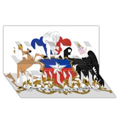 Coat Of Arms Of Chile  Happy New Year 3d Greeting Card (8x4)