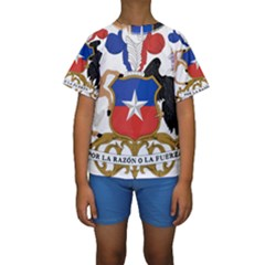 Coat Of Arms Of Chile  Kid s Short Sleeve Swimwear