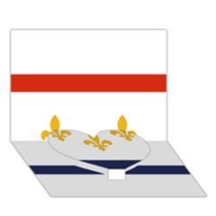Flag Of New Orleans  Heart Bottom 3d Greeting Card (7x5) by abbeyz71