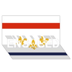 Flag Of New Orleans  Engaged 3d Greeting Card (8x4) by abbeyz71