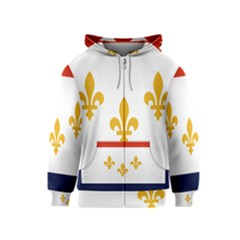 Flag Of New Orleans  Kids  Zipper Hoodie by abbeyz71