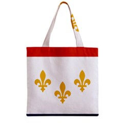 Flag Of New Orleans  Zipper Grocery Tote Bag by abbeyz71