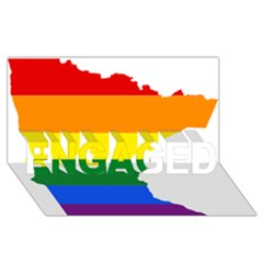 Lgbt Flag Map Of Minnesota  Engaged 3d Greeting Card (8x4) by abbeyz71